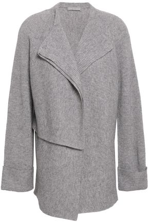 VINCE. Ribbed-knit wool and cashmere-blend cardigan