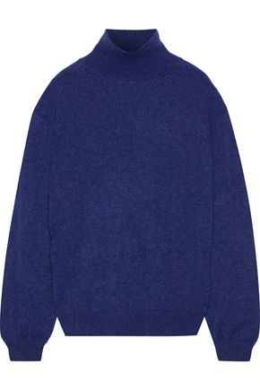 KHAITE Julie mélange cashmere turtleneck sweater