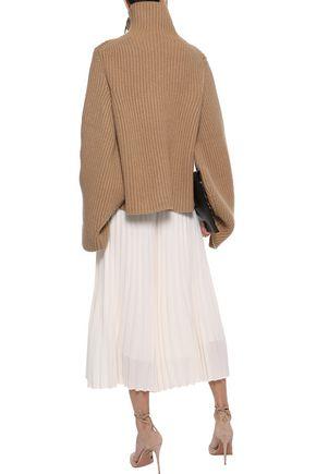 KHAITE Molly oversized ribbed cashmere turtleneck sweater