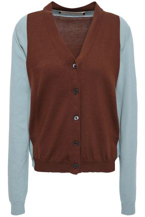 MARNI Two-tone cotton cardigan