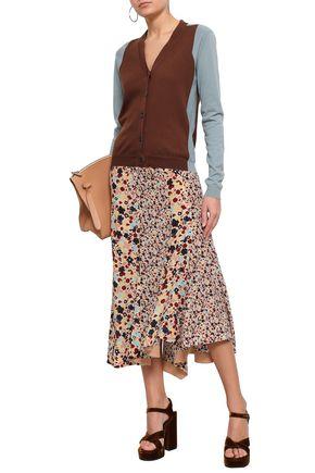 MARNI Two-tone cotton cardigan