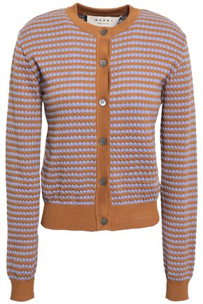 MARNI Jacquard-knit cotton cardigan