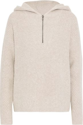 LINE Lauren ribbed terry hooded sweater
