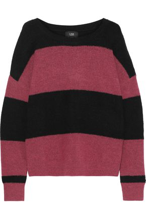 LINE Sophie striped intarsia-knit sweater