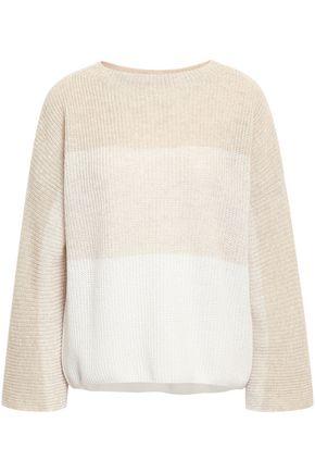 AGNONA Ribbed dégradé cashmere and linen sweater