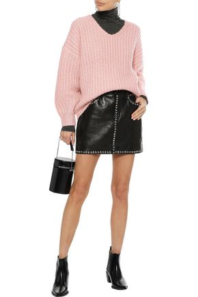 REBECCA MINKOFF Mélange waffle-knit sweater
