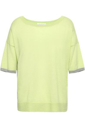 DUFFY Open knit-paneled cashmere top