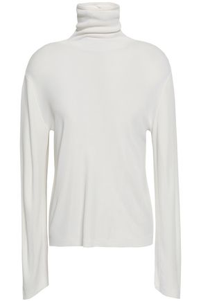 KHAITE Cape-effect stretch-knit turtleneck sweater