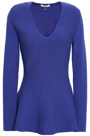 MUGLER Knitted peplum top