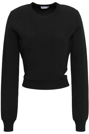 MUGLER Cutout stretch-knit sweater
