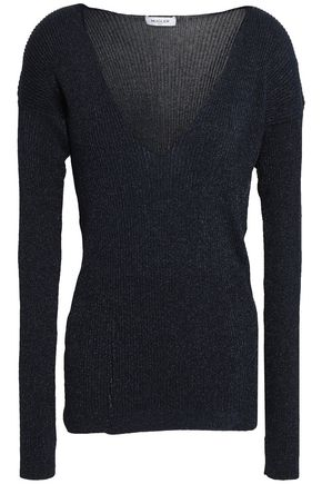MUGLER Ribbed-knit top
