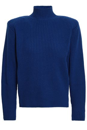 MUGLER Ribbed wool and cashmere-blend sweater