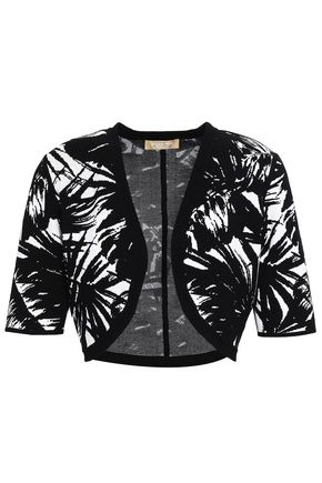MICHAEL KORS COLLECTION Jacquard-knit bolero