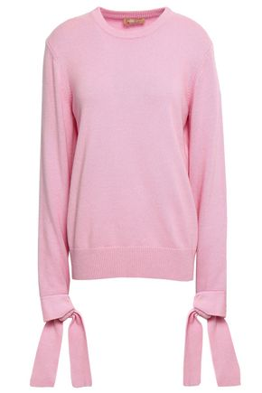 MICHAEL KORS COLLECTION Tie-detailed cashmere sweater
