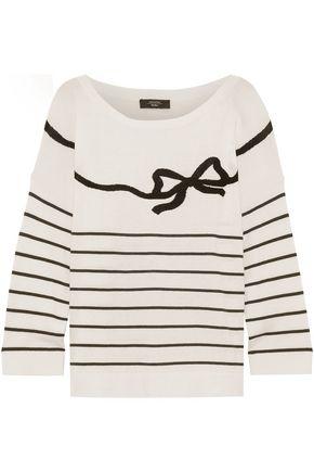 MAX MARA Cuzio intarsia silk and cotton-blend sweater