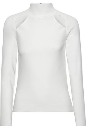 ALICE + OLIVIA Cohen cutout stretch-knit top