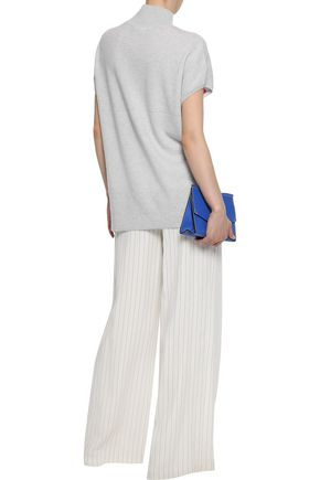 DUFFY Intarsia cashmere turtleneck sweater