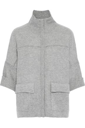 DUFFY Mélange wool and cashmere-blend jacket