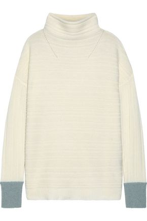 DUFFY Ribbed cashmere turtleneck sweater