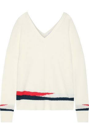 DUFFY Intarsia cashmere sweater