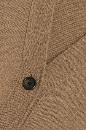 GOEN.J Wrap-effect button-detailed wool cardigan