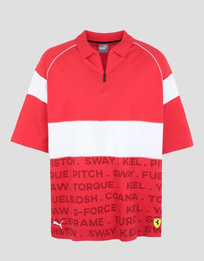Scuderia Ferrari Online Store - Men's Scuderia Ferrari Speed Cat polo - Short Sleeve Polos