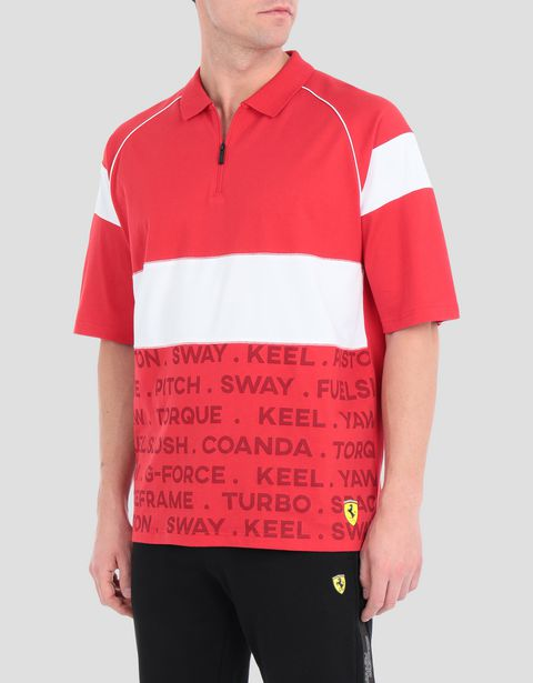 Scuderia Ferrari Speed Cat men's polo shirt
