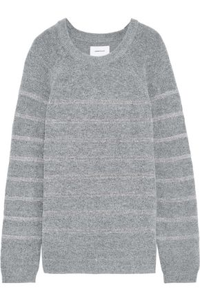 CURRENT/ELLIOTT The Victor metallic crochet-trimmed bouclé-knit sweater
