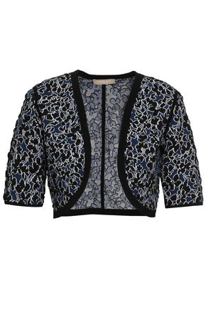 MICHAEL KORS COLLECTION Floral jacquard-knit shrug