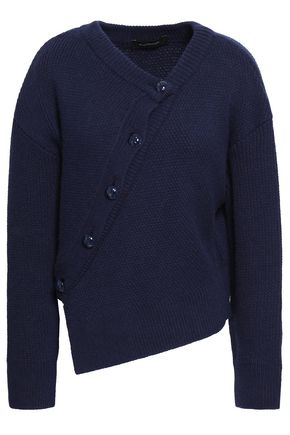 CEDRIC CHARLIER Asymmetric wool and cashmere-blend cardigan