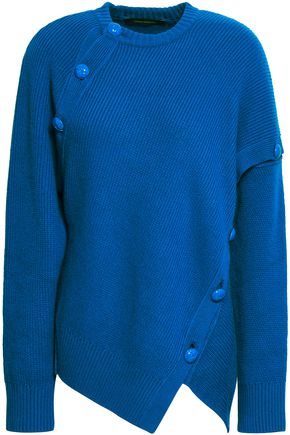 CEDRIC CHARLIER Button-detailed wool and cashmere-blend sweater