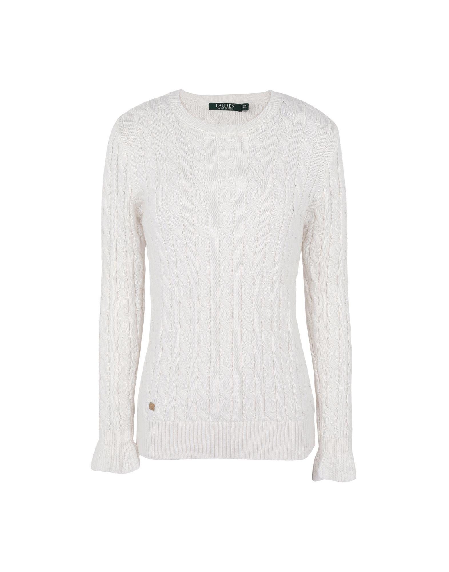 Ruffled-cuff cotton sweater pullover lauren...