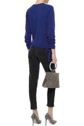 AUTUMN CASHMERE Lace-up cashmere sweater
