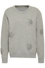 MICHAEL MICHAEL KORS Crystal-embellished cotton-blend sweater