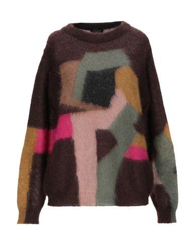 Фото - Женский свитер ROBERTO COLLINA темно-коричневого цвета