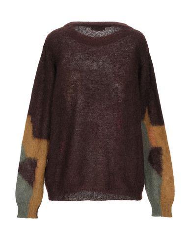 Фото 2 - Женский свитер ROBERTO COLLINA темно-коричневого цвета