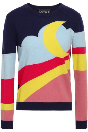 BOUTIQUE MOSCHINO Intarsia wool and cashmere-blend sweater
