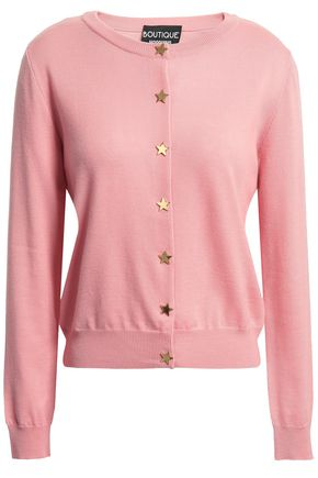 BOUTIQUE MOSCHINO Button-detailed wool cardigan