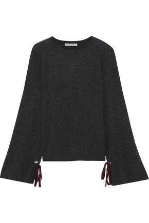 f8d11efe25e897 AUTUMN CASHMERE Bow-detailed mélange cashmere sweater
