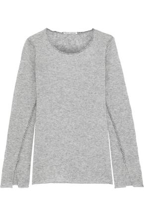 AUTUMN CASHMERE Mélange cashmere and silk-blend sweater
