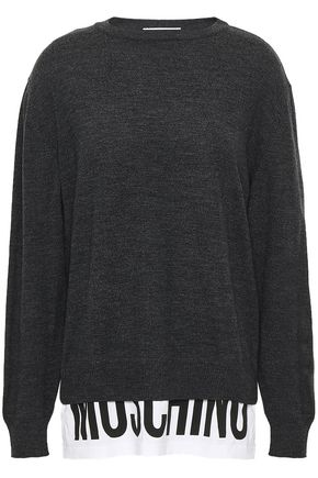 MOSCHINO Paneled cotton-jersey sweater
