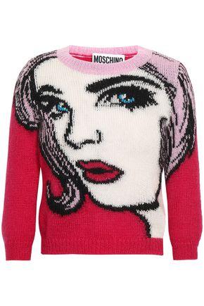 MOSCHINO Intarsia mohair-blend sweater
