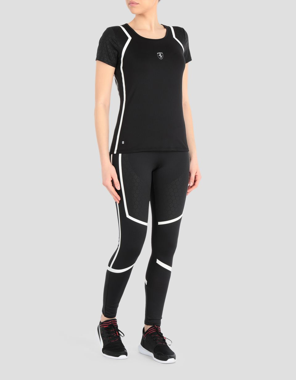 Scuderia Ferrari Online Store - Women's running T-shirt in Speed Dry technical fabric - Short Sleeve T-Shirts