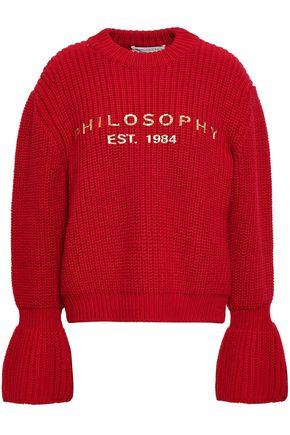 PHILOSOPHY di LORENZO SERAFINI Fluted ribbed wool sweater