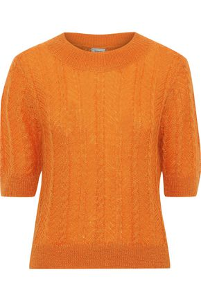 TEMPERLEY LONDON Bessie cable-knit mohair-blend sweater
