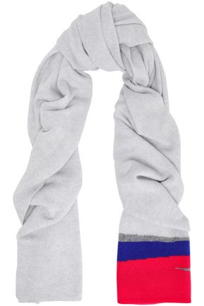 DUFFY Color-block cashmere scarf
