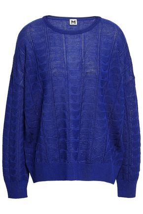 M MISSONI Wool-blend jacquard top
