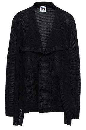 M MISSONI Draped wool-blend jacquard cardigan