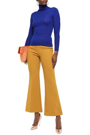 M Missoni Tops M MISSONI WOMAN RIBBED WOOL-BLEND TURTLENECK TOP ROYAL BLUE
