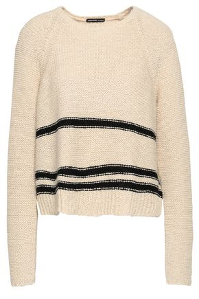 JAMES PERSE Intarsia cotton-blend sweater